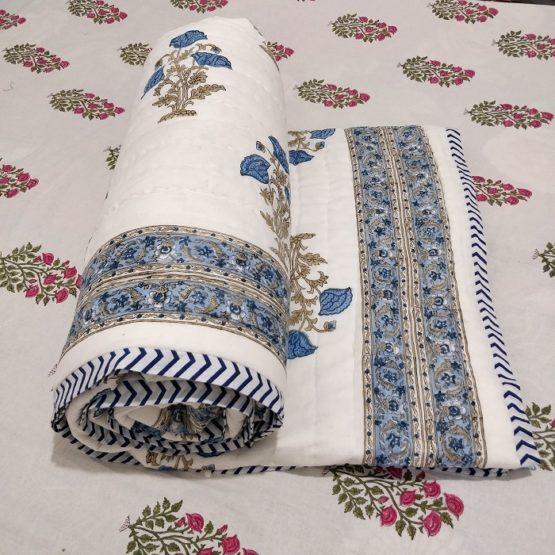 hand block quilt blanket