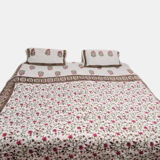 block print quilt blanket