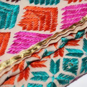phulkari embroidery kids dupatta