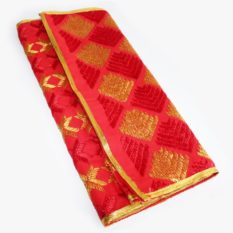 red kids dupatta