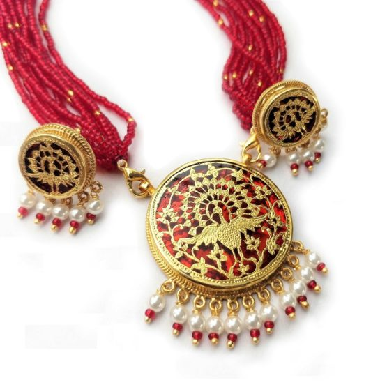 traditional thewa gold necklace