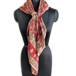 kalamkari motifs scarf