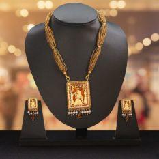 Orange Traditional Gold Jewellery 1