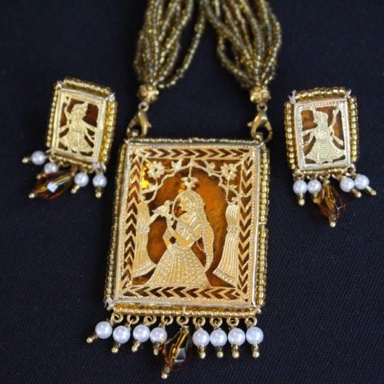 Orange Traditional Gold Jewellery 5