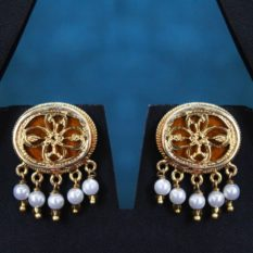 Orange Traditional Gold Jewellery Set 2