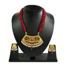 thewa art red jewellery set