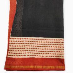 block print saree