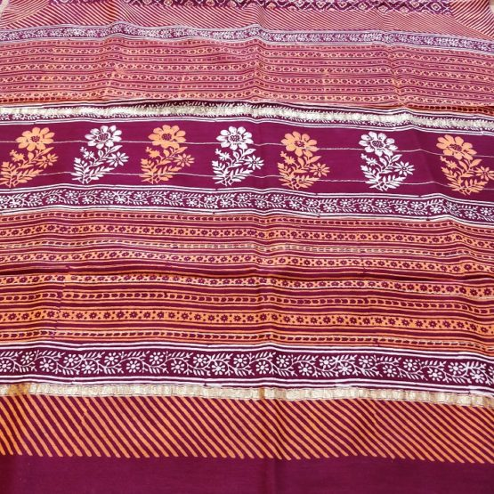 bagru hand block saree