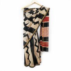 latest hand block saree