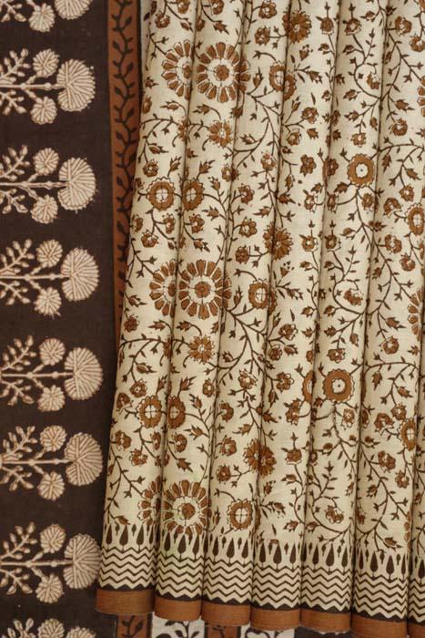 Bagru Handblock print cotton saree