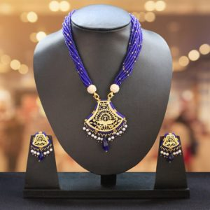 Blue Traditional Gold Jewellery 1