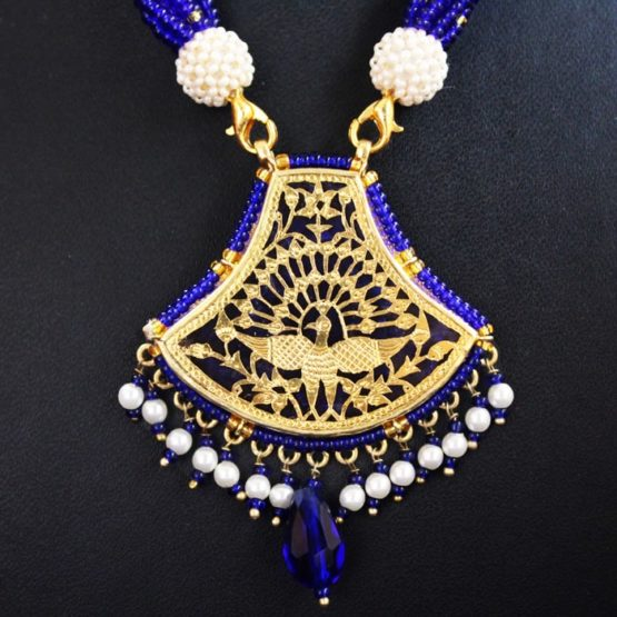 Blue Traditional Gold Jewellery 3