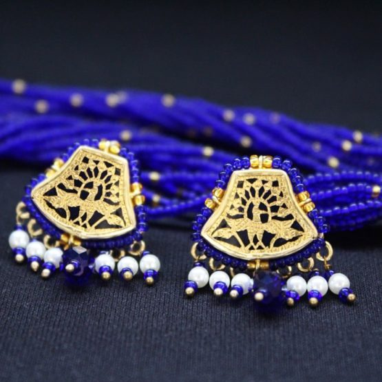 Blue Traditional Gold Jewellery 5