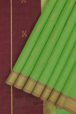 Buy Pure Cotton Saree Green 1