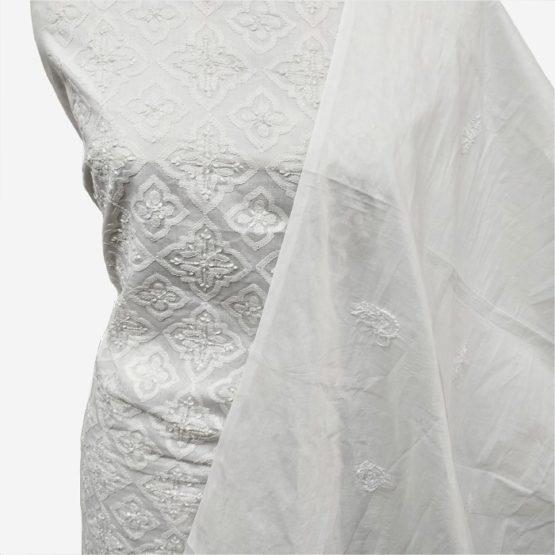 chikankari embroidery cotton set