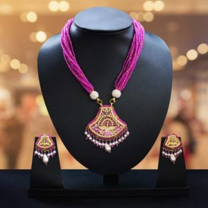 Pink Gold jewellery Set Online 1