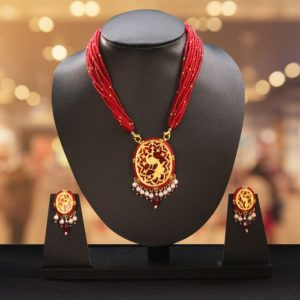 Red Dancing Gold Jewellery Set1