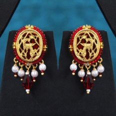 Red Dancing Gold Jewellery Set2