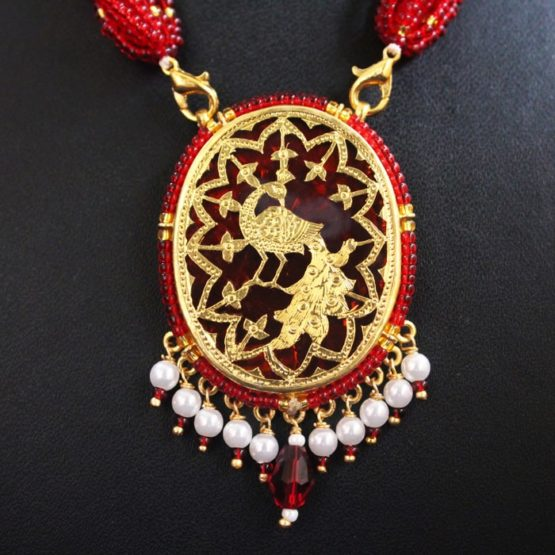 Red Dancing Gold Jewellery Set3