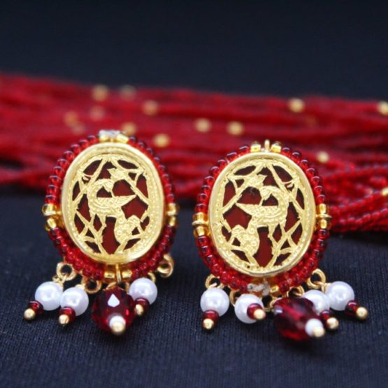 Red Dancing Gold Jewellery Set4