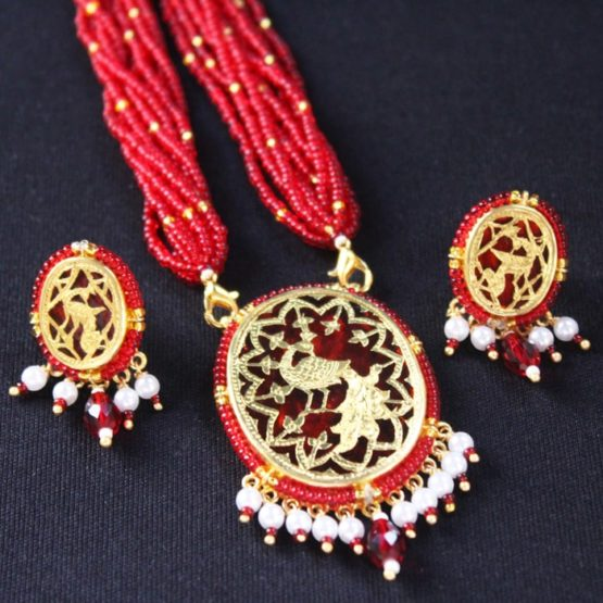 Red Dancing Gold Jewellery Set5