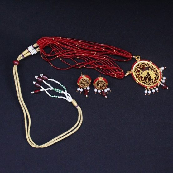 Red Dancing Gold Jewellery Set6
