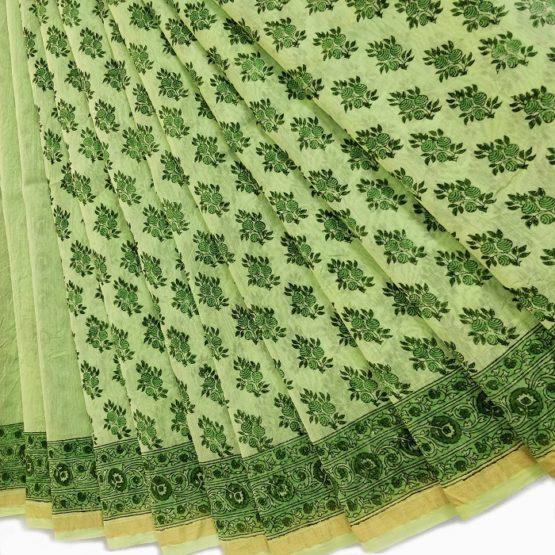 sanganer chanderi cotton silk saree