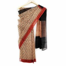sanganer hand block cotton saree