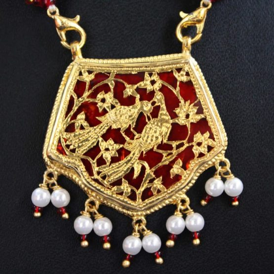 traditional thewa gold jewellery set online 3