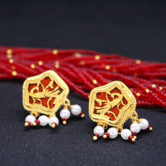 traditional thewa gold jewellery set online 4