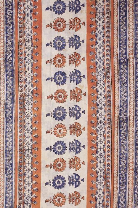 Kalamkari hand block printed Sarees 14b