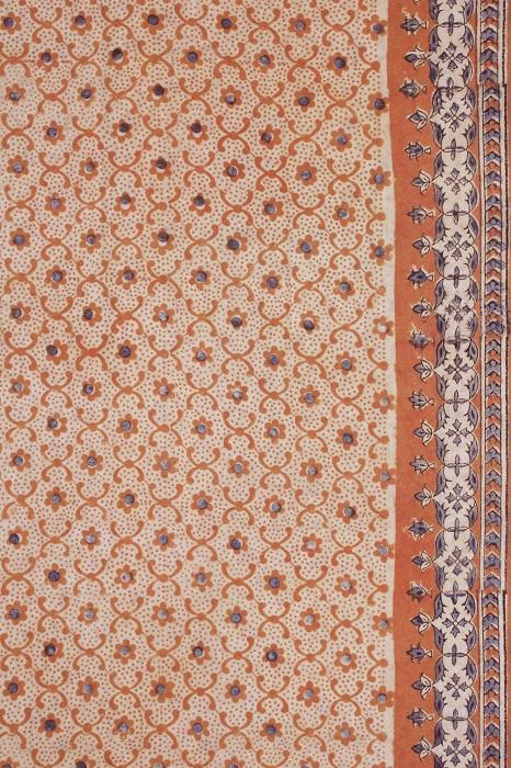 Kalamkari hand block printed Sarees 14c