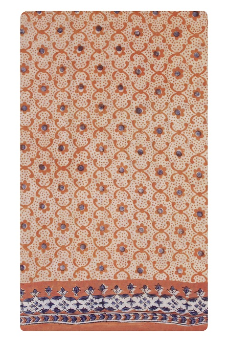 Kalamkari hand block printed Sarees 14e