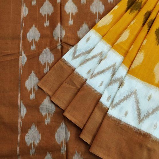 cotton ikat sarees