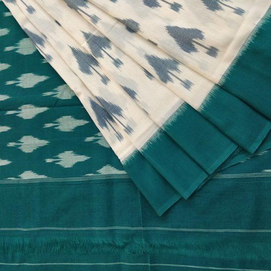 ikat leaf motif sarees