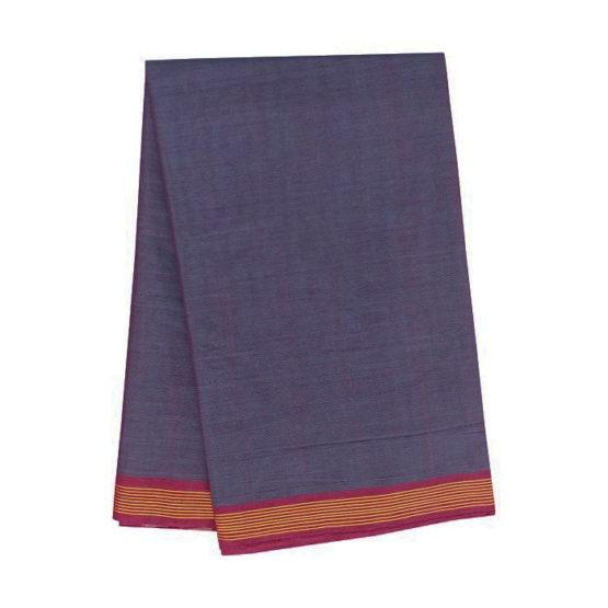 GiTAGGED Udupi Indigo Solid Pure Cotton Saree 4