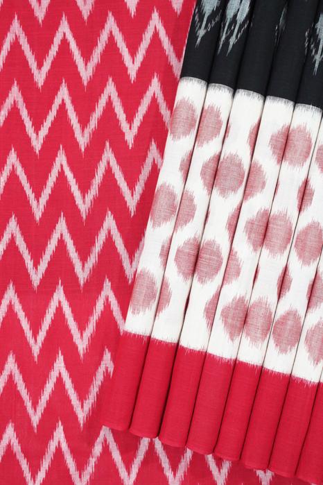 Handwoven Pure Cotton Pochampally Saree (1)