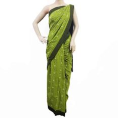 POCHAMPALLY IKAT SAREE - GREEN-BLACK SAREE - GI TAG