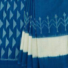 Blue-White Indian Saree Online