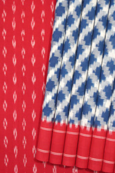 Pochampally Double Ikat Hand Woven Pure Cotton Saree (1)
