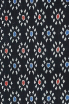 Pochampally Double Ikat Hand Woven Pure Cotton Saree (2)
