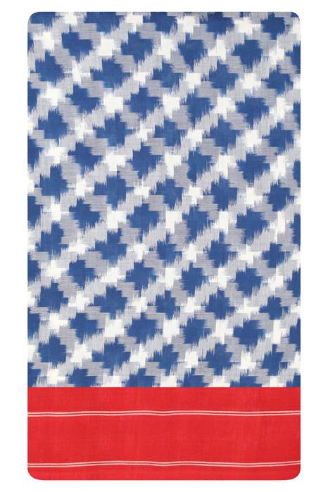 Pochampally Double Ikat Hand Woven Pure Cotton Saree (5)
