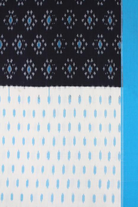 Pochampally Double Ikat Hand Woven Pure Cotton Saree Online (3)