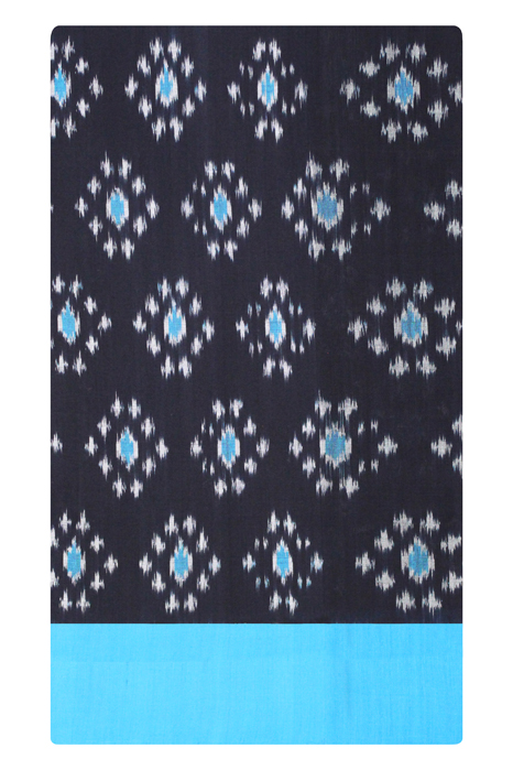 Pochampally Double Ikat Hand Woven Pure Cotton Saree Online (5)