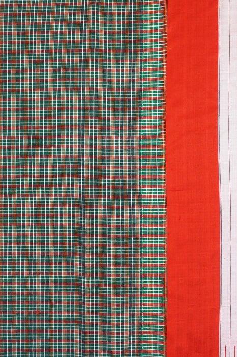 Checked Silk Cotton Sarees Online 2