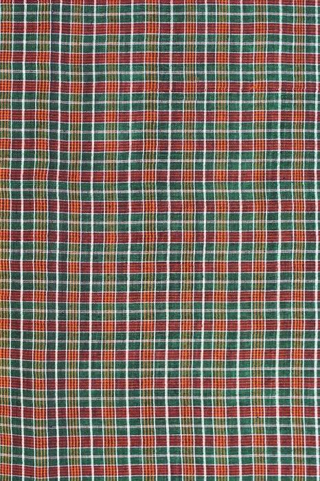 Checked Silk Cotton Sarees Online 4