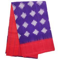 GI Tag - Pochampally Cotton Ikat Saree of Purple-Red Colour
