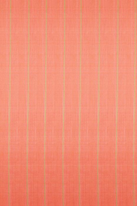 Green-Orange Double Ikat Jumbo Dotted Pattern Pure Cotton Saree Online (2)