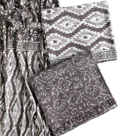 Sanganeri Cotton Fabric Salwar with Dupatta