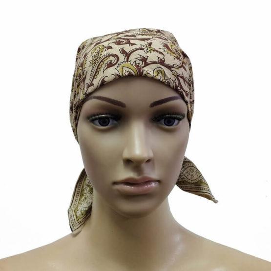 Cream Bandana Head Wrap